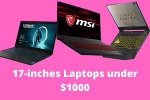 Best 17-inch laptops under $1000